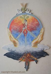 Friedenszeichen, Welt ohne krieg, Glück, Hades
