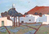 Stadtlandschaft, Lanzarote, Landschaft, Malerei
