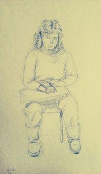 Menschen, Kugelschreiber, Skizze, Zeichnungen