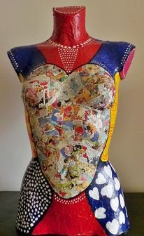 Körper, Acrylmalerei, Pop art, Skulptur