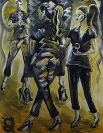 Schwan, Schwarz, Malerei