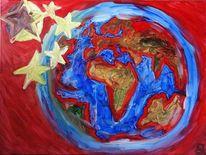 Flagge, China, Fahne, Malerei