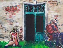 Adam eva, Tür, Malerei