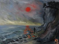 Strand, Sonne, Malerei