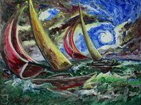 Segel, Boot, Meer, Ostsee