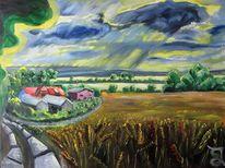 Dorf, Laase, Rügen, Malerei