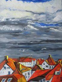 Sassnitz, Dach, Ostsee, Malerei