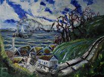 Rügen, Ostsee, Vitt, Malerei