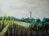 Hiddensee, Leuchtturm, Tag, Dornbusch
