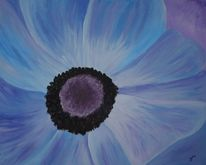 Abstrakt, Mohn, Blau, Malerei