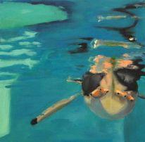 Malerei, Pinguin, Acrylmalerei