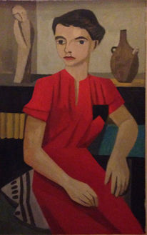 Malerei, Kleid, Frau