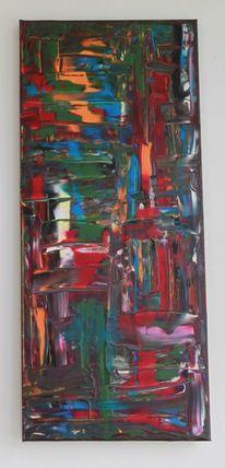 Acrylmalerei, Spachtel, Surreal, Orange
