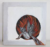 Schwarz, Acrylmalerei, Engel, Elfen