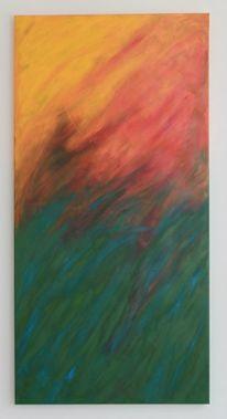 Grün, Acrylmalerei, Orange, Malerei