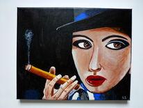 Düsseldorf, Menschen, Acrylmalerei, Malerei