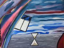 Abstrakt, Das zeitfenster, Modern, Acrylmalerei