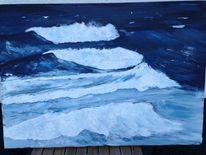 Malerei, Wasser, Acrylmalerei, Landschaft