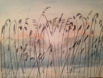 Aquarellmalerei, Landschaft, Malerei, Aquarell