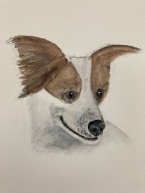Hund, Aquarellmalerei, Portrait, Surreal