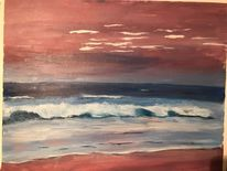Acrylmalerei, Landschaft, Wasser, Malerei