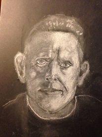 Portrait, Kreide, Zeichnungen