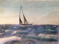 Pastellmalerei, Acrylmalerei, Landschaft, Malerei