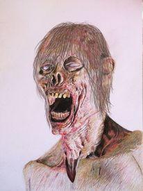 Untod, Verwesung, Portrait, Zombie