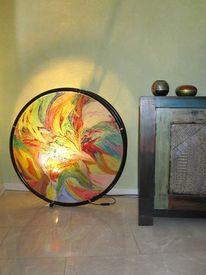 Orange, Braun, Gelb, Acrylmalerei