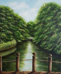 Am kanal, Malerei