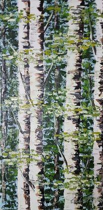Wald, Baum, Birken, Malerei