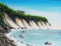 Steilküste, Ostsee, Malerei
