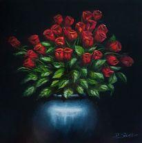 Vase, Licht, Schatten, Rose
