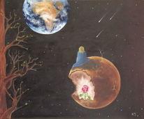 Baum, Erde, Universum, Malerei
