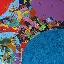 Abstrakt, Zen, Blau, Meer