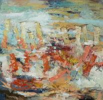 Ölmalerei, Abstrakt, Fliegen, Gemälde