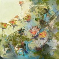 Blumen, Abstrakt, Ölmalerei, Malerei