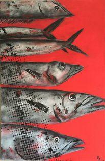Silber, Fang, Meeresfrüchte, Grau