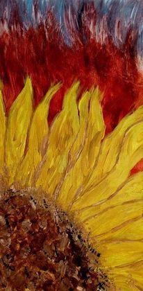 Orange, Modern, Gelb, Acrylmalerei