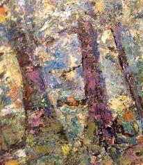 Blätter, Bunt, Baum, Malerei