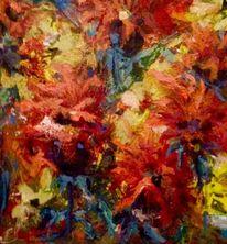 Blüte, Sommer, Bunt, Malerei