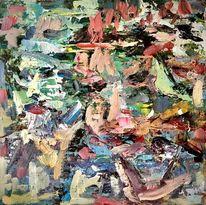 Menschen, Freunde, Bunt, Malerei