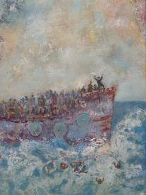 Menschen, Wasser, Meer, Malerei