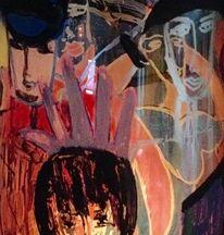Menschen, Glas, Bunt, Malerei