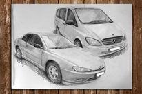 Fahrzeug, Zeichnung, Auto, Bleistiftzeichnung
