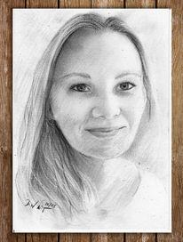 Haare, Kohlezeichnung, Zeichnung, Frau