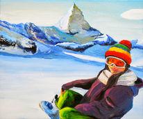 Matterhorn, Schnee, Schifahren, Schweiz