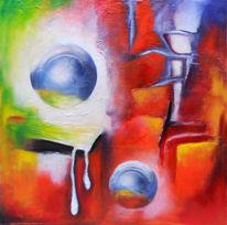 Ölmalerei, Fantasie, Silber, Tropfen