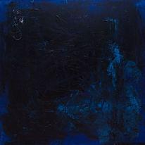 Blau, Faden, Malerei