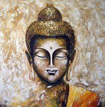 Acrylmalerei, Buddha, Gemälde, Malerei